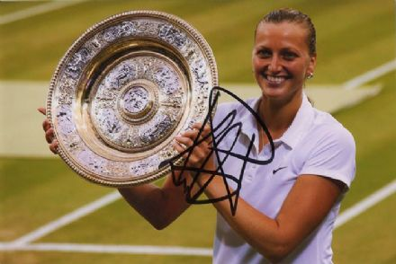 Petra Kvitova, Wimbledon Champion 2014, signed 6x4 inch photo.